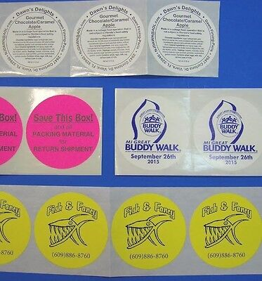 Printed Round Stickers 500 Custom 3 Circle Business Labels 1 Ink Color Roll