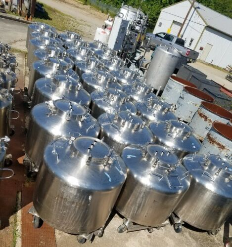 190 (200 Gallon) Gallon (720 Liter) Feldmeier portable IBC Totes/Vacuum Vessels