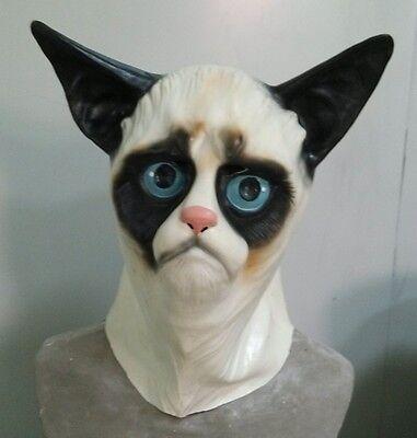 Siamesische Katze Maske Latex Grumpy Pussy Tier Kostüm Junggesellenabschied
