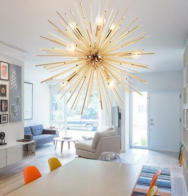 Modern E14 Gold Sputnik Light Chandelier Ceiling Pendant Lamp Lighting Fixture