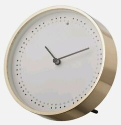 Ikea Panorera 6 Modern Gold Trim Wall/Table Silent Illuminated Clock 503.946.79