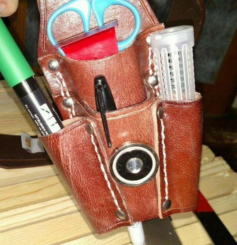 New Custom Beekeeping Hive Tool Pouch w/ Magnet and Queen cage