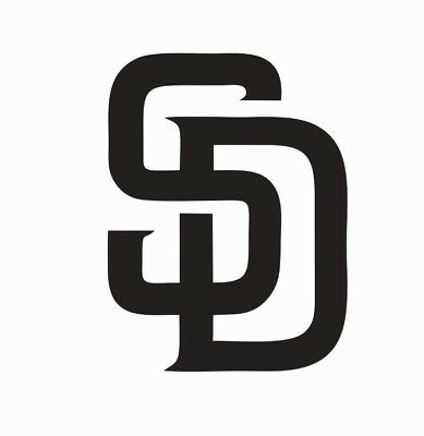 San Diego Padres MLB Baseball Vinyl Die Cut Car Decal Sticker - FREE SHIPPING - Baseball Stickers