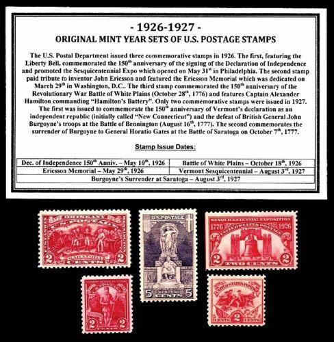 1926 - 1927 YEAR SET OF MINT -MNH- VINTAGE U.S. POSTAGE STAMPS