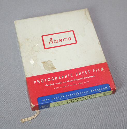 """Ansco Superpan Press 4 X 5"""", 25 sheets, unopened, outdated"""