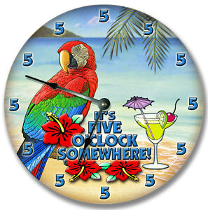 5-OCLOCK-SOMEWHERE-WALL-CLOCK-MARGARITA-PARROT