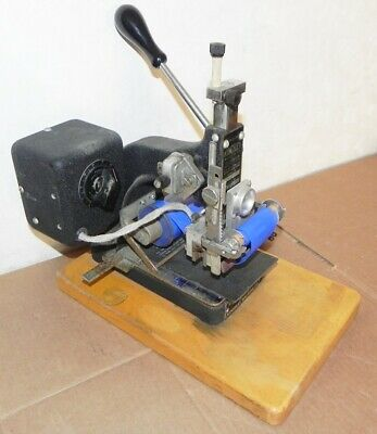 Kingsley Machine M-100-ba Hot Foil Stamping Press Embossing Vintage Wokring