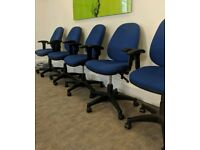 16 x Blue Office Chairs - FREE DELIVERY