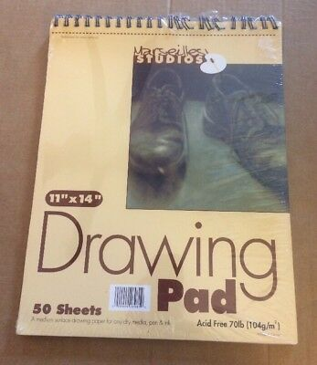 """Marseilles Studios 50 Sheet Drawing Pad 11""""x14"""" (See Description)"""