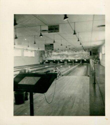 1946 Ft Shaftner, Honolulu Hawaii Photo inside of Bowling Alley