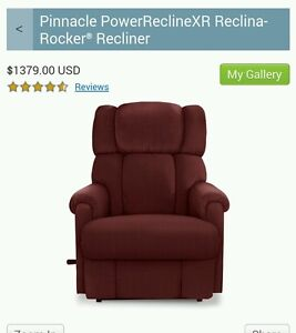 NEW Berry La-Z-boy Pinnacle PowerReclineXR Reclina-Rocker® Recliner lazy boy