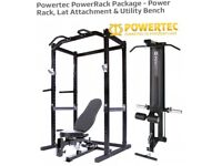 Powertech power rack with lat pull down *like new*