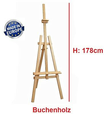 Standstaffelei 178cm Holzstaffelei Atelierstaffelei Staffelei Studiostaffelei