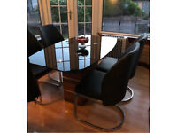**TABLE ONLY** DFS Dining Table kitchen Glass