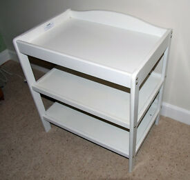 Baby nappy changing unit, VGC. With shelves