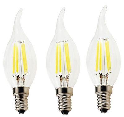 E14 4W 220V LED Flame Candel Vintage Edison Bulb Filament Lamp Light - Lot of 3 (Led Candels)