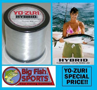 Yo Zuri Hybrid Fluorocarbon Fishing Line 600Yd Clear Color New  Pick Your Size