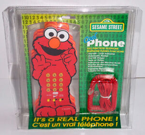 SESAME STREET ELMO TELEPHONE FROM 1997 REAL CORDED PHONE!