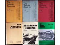 151 BACK ISSUES OF THE RAILWAY OBSERVER MAGAZINE FOR SALE