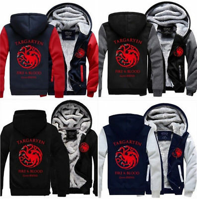 Game of Thrones House Targaryen Hoodie Winter Coat - Game Of Thrones Targaryen Hoodie
