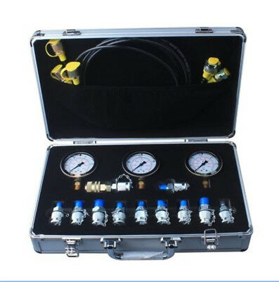 Excavator Hydraulic Pressure Test Kit Hydraulic Tester11 Couplings 9000psi