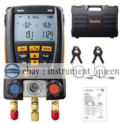 Testo 550 Refrigeration Digital Manifold Kit 0563 1550 With 2pcs Clamp Probes