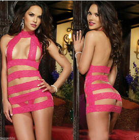 LADIEs WOMENs HOT ROSE RED SEXY NIGHTWEAR LINGERIE TEDDY BODYSUIT SEXY TOP.