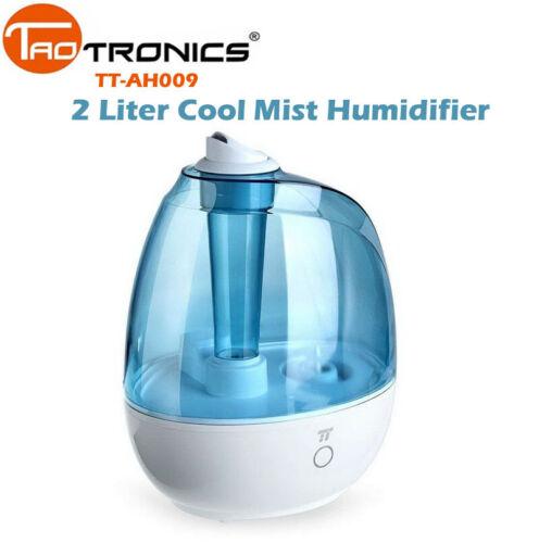 TaoTronics Cool Mist Humidifier 2 Liter Quiet Waterless BPA-Free TT-AH009 DI09