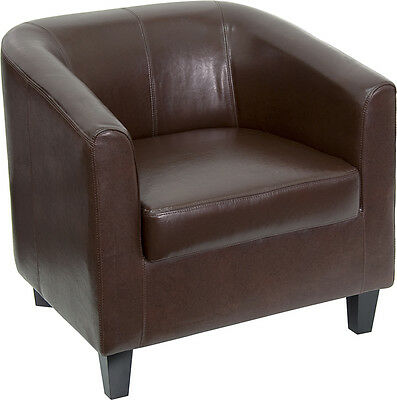 Flash Furniture Brown Leather Office Guest Chairreception Chair