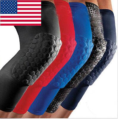 Adult Basketball Pad Protector Gear Leg Knee Arm Elbow Long Sleeve Antislip US