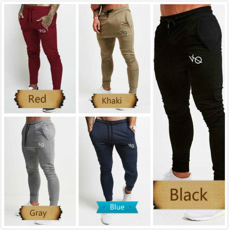 Mens Joggers Pants Long Trousers Sport Running Gym Slim Fit Workout Sweatpants