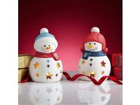 Snowman tealights
