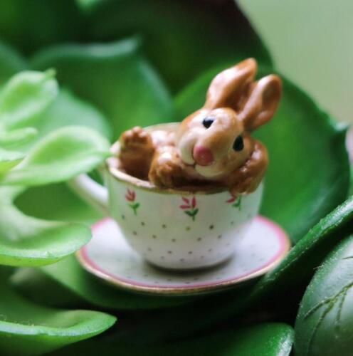 Wee Forest Folk Bunny - Cuppa Cottontail B-28
