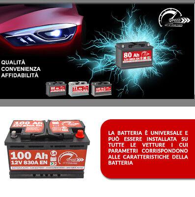 BATTERIA AUTO SPEED L4 100 Ah 830A = BOSCH FIAMM VARTA 90 95 DX + PRONTA ALL'USO