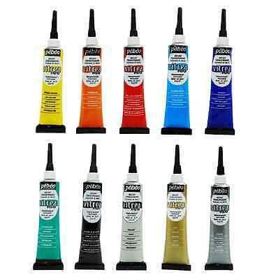 Pebeo Vitrea 160 Aussenlinier Durchsichtig Relief Paste Glas & Metallfarbe Malen (Pebeo Vitrea 160 Farbe)