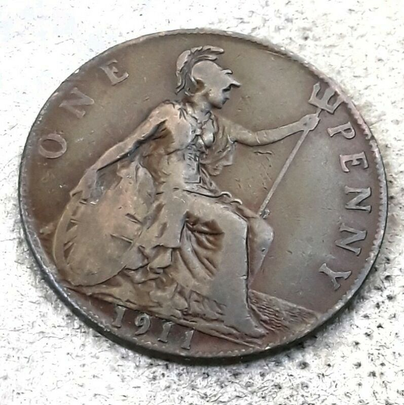 UK (Great Britain)  **  1911   **  Large Penny