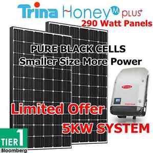 Solar 5 Kilowatt System TRINA 290 Watt HONEY M PLUS SOLAR PANELS Sydney City Inner Sydney Preview