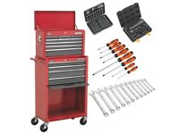 SEALEY AMERICAN PRO AP22513BB TOOL CHEST & ROLER CABINET 13 DRAWER + 151PC TOOLKIT