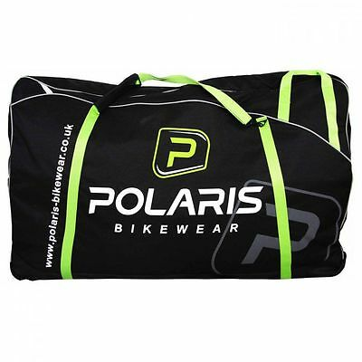 Polaris Cargo Bike/Cycling/Luggage Nylon Travel Bag With Wheels - Black
