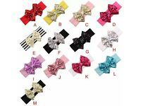 GIRLS BIG BOW HEAD BANDS NEW