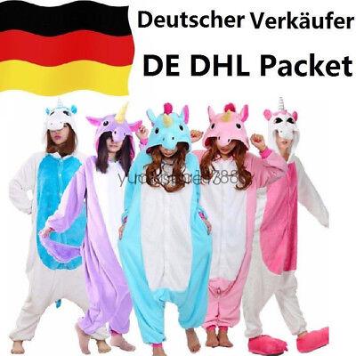 Einhorn Kostüm Erwachsene (Tier Pyjama Einhorn Kostüm Karton Tierkostüme Jumpsuit Erwachsene Schlafanzug !)