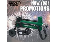 DRAPER 81203 1500W 4 TONNE 230V LOG SPLITTER NEW YEARS