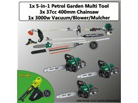 LBW WHOLESALE DRAPER GARDEN DEAL - PETROL CHAINSAW, 5-IN-1 MULTI TOOL & BLOWER