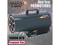 DRAPER 17681 JET FORCE, PROPANE SPACE HEATER - 50,000 BTU (15KW)
