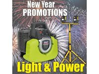 SEALEY GENERATOR INVERTER 1000W 230V & DRAPER TWIN 10W SITE LIGHT NEW YEARS PROMOTIONS