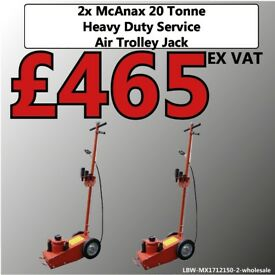 2X MCANAX 22 TON AIR TROLLEY JACK OPERATED SERVICE JACK HEAVY DUTY MX1712150