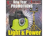SEALEY GENERATOR INVERTER 1000W 230V & DRAPER TWIN 10W SITE LIGHT CARAVAN CAPMING STUDIO MARKET
