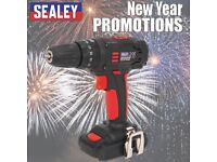 SEALEY CP18VLD CORDLESS 10MM HAMMER DRILL/DRIVER 18V 1.5AH LITHIUM-ION 2-SPEED KIT