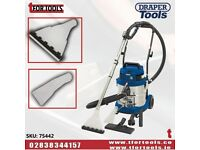 DRAPER 75442 20L 1500W WET DRY SHAMPOO CARPET CLEANER CAR VALET VALETING