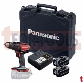 Panasonic EY79A2 Red Edition 18V/14.4V Dual Voltage Brushless Combi Hammer Drill 2x 5.0Ah